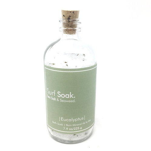 SEA SALT + SEAWEED MINERAL BATH | EUCALYPTUS | - SURF SOAK (SMALL)