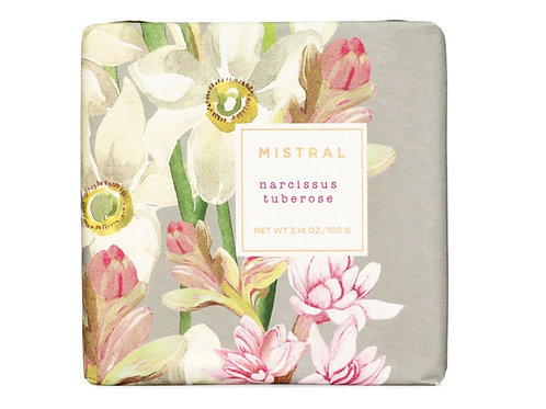NARCISSUS TUBEROSE | BAR SOAP EXQUISITE FLORALS COLLECTION | MISTRAL