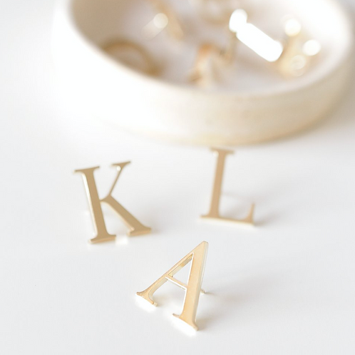GOLD MONOGRAM PIN | LARK AND IVES - Multiple Colours