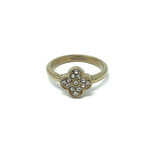 LUCKY RING,  GOLD + CRYSTAL - DYRBERG/KERN
