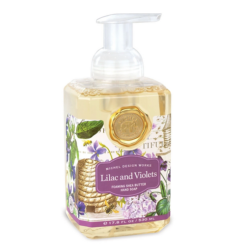 LILAC AND VIOLETS | FOAMING HAND SOAP | MICHEL DESIGN WORKS