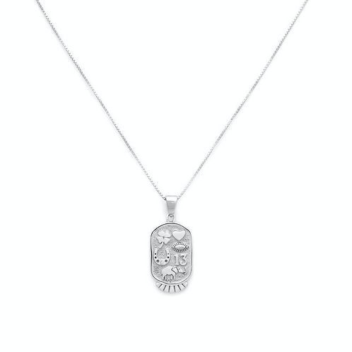 FORTUNE NECKLACE   STERLING SILVER   MELANIE AULD