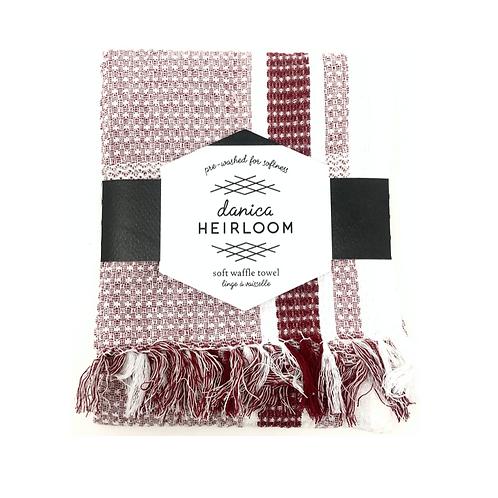 WAFFLE TEA TOWEL | WINE | DANICA HEIRLOOM