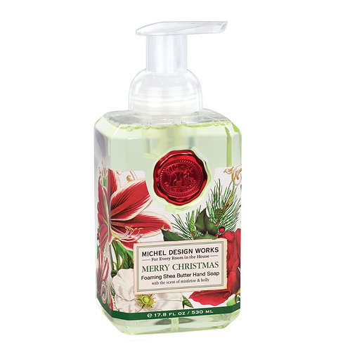 MERRY CHRISTMAS   FOAMING HAND SOAP   MICHEL DESIGN WORKS