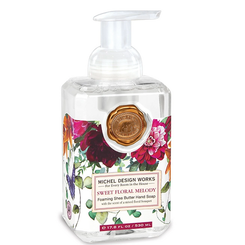 SWEET FLORAL MELODY   FOAMING HAND SOAP   MICHEL DESIGN WORKS