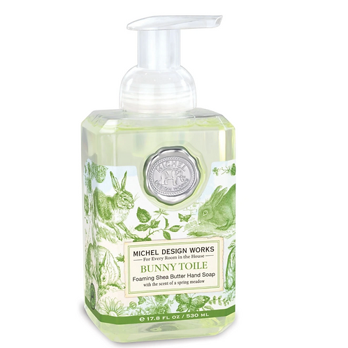 BUNNY TOILE | FOAMING HAND SOAP | MICHEL DESIGN WORKS