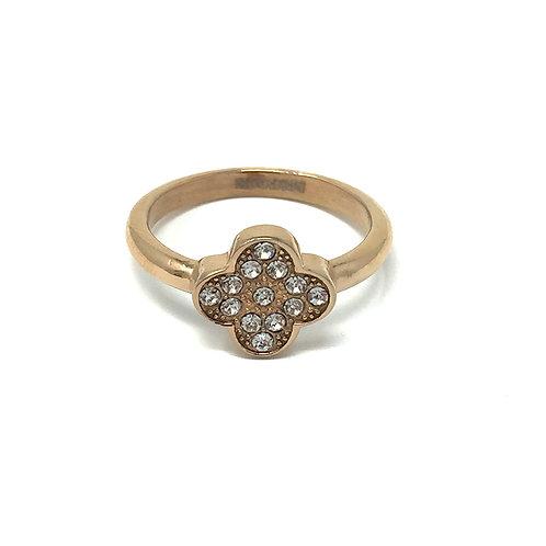 LUCKY RING,  ROSE GOLD + CRYSTAL - DYRBERG/KERN