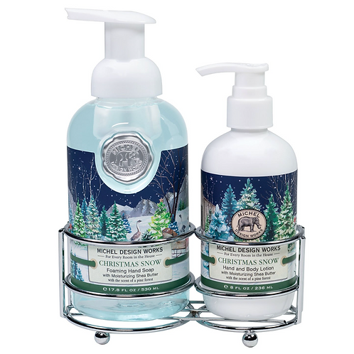 CHRISTMAS SNOW   HAND CARE CADDY   MICHEL DESIGN WORKS
