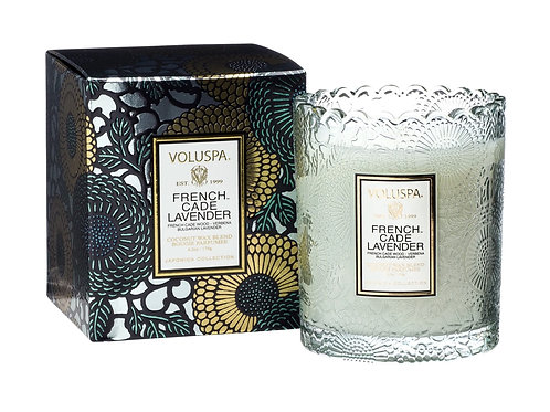 FRENCH CADE LAVENDER | SCALLOPED EDGE CANDLE | VOLUSPA