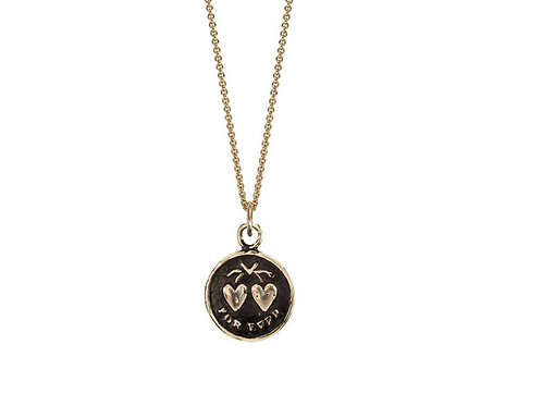 HEARTS | 14K GOLD TALISMAN NECKLACE | PYRRHA