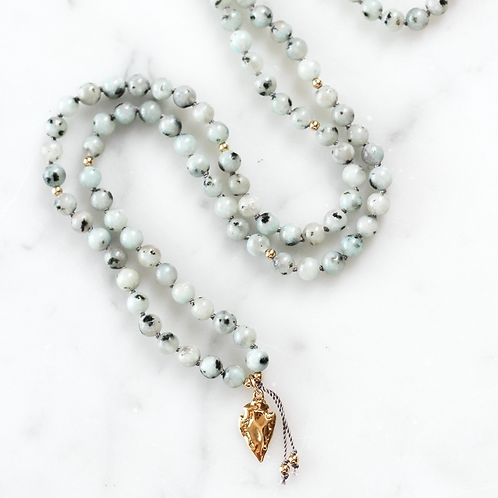 COURAGE | PENDANT MALA NECKLACE  | THE BEAUTIFUL NOMAD