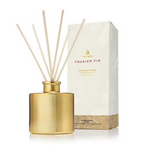 PETITE GOLD REED DIFFUSER  | FRASIER FIR | THYMES