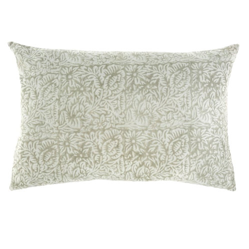PRINTED VELVET PILLOW | MINT