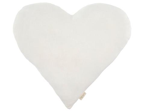 VELVET SWEETHEART PILLOW | OFF WHITE