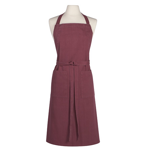 STONEWASHED APRON  | WINE | DANICA HEIRLOOM