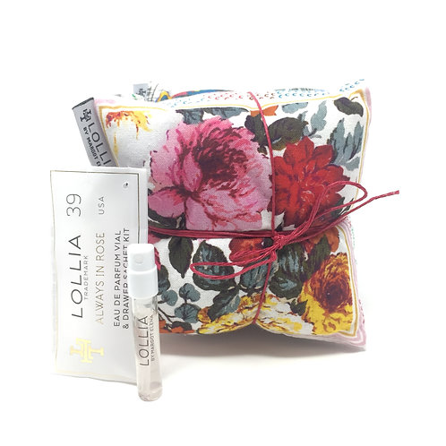 ALWAYS IN ROSE PERFUME DRAWER SACHET KIT - LOLLIA