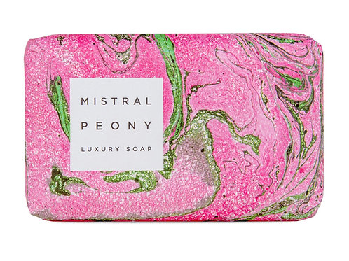 PEONY | BAR SOAP MARBLE COLLECTION | MISTRAL