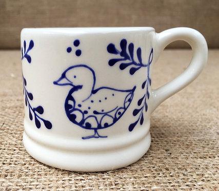 Expresso mug - blue pattern