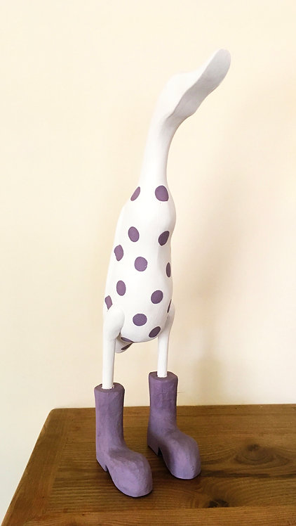 Spotty Duck White & Lilac