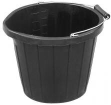 3 Gallon Black Scoop Bucket with pourer
