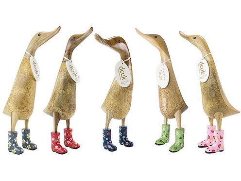 DCUK Natural Finish Ducklet - with Floral Welly Boots