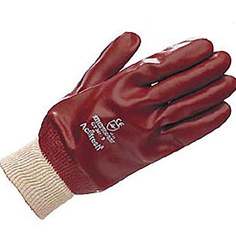 Gloves PVC Fully Coated Knit Wrist