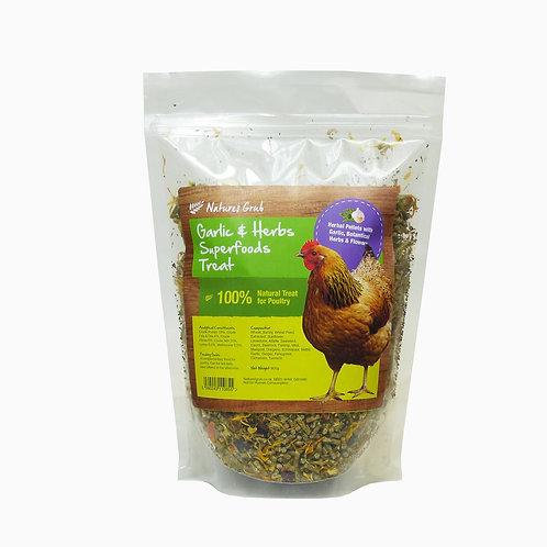 Nature's Grub Garlic & Herbs Superfoods Treat 600g
