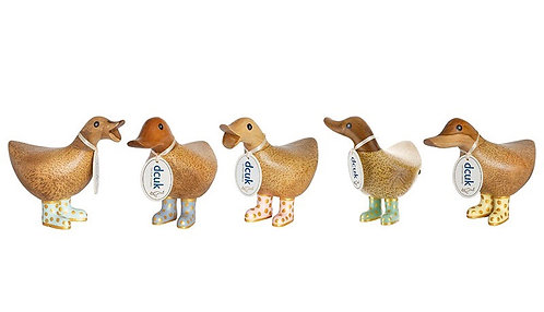 DCUK Ducky - Pastel & Gold Welly Boots