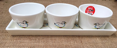 Dipping tray - white duck