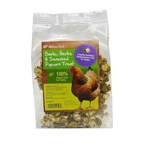Nature's Grub Garlic, Herbs & Seaweed Popcorn Treat 20g