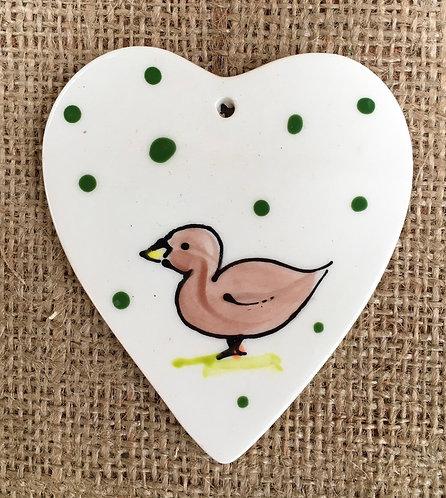 Hanging heart - little green spot