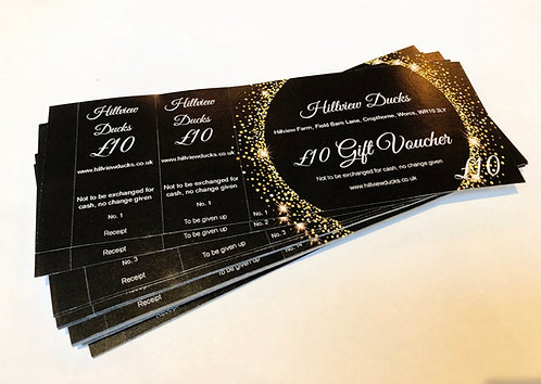 Gift Vouchers (available in multiples of £10)