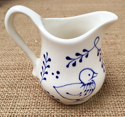 Milk jug - blue pattern