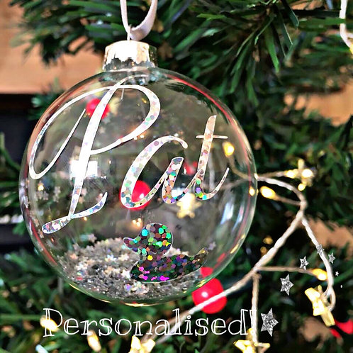 Glitter Bauble Personalised