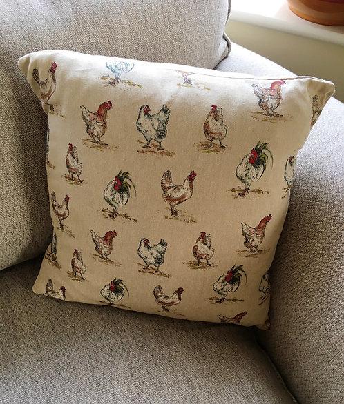 Hen & Cockerel cushion