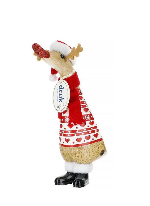 DCUK 2019 Reindeer Duckling (hearts)
