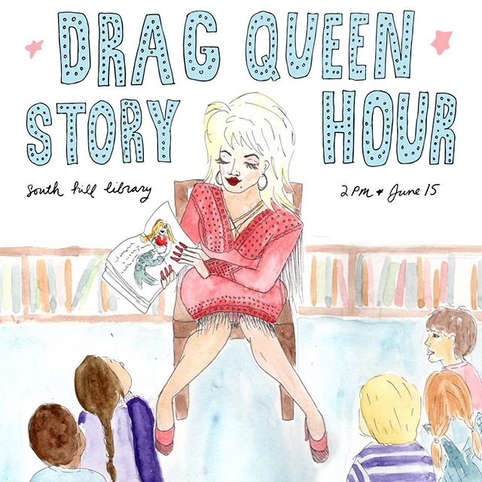 Instagram ad for Drag Queen Story Hour