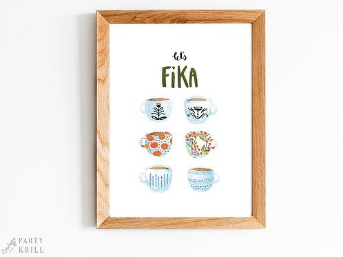 Let's FIKA Art Print