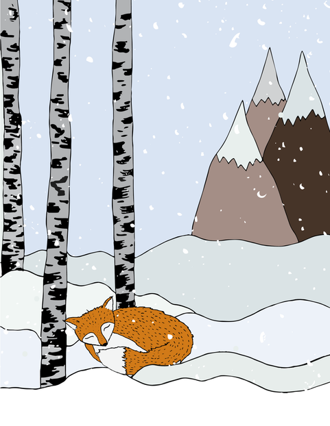 Snowy Fox Custom Image