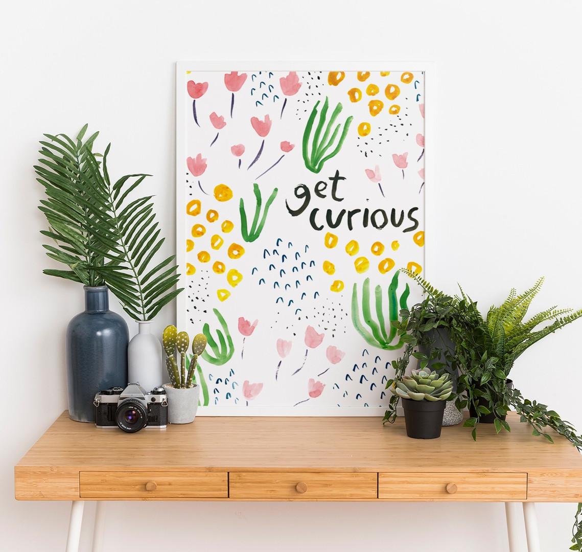 Get Curious Art Print