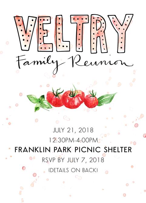 Custom Family Reunion Invitation