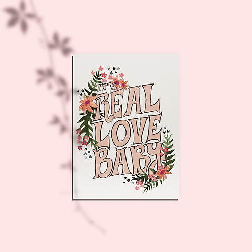 Real Love Baby Card