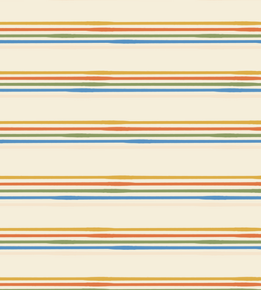Seventies Roller Stripe in Cream