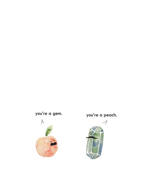 Gem Peach Card