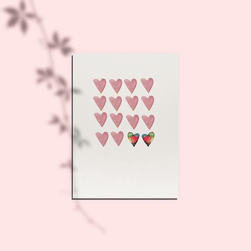Rainbow Hearts Card