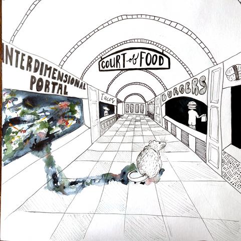 The Mall: Food Court Illustration