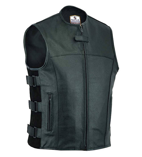 SWAT tactical style leather vest