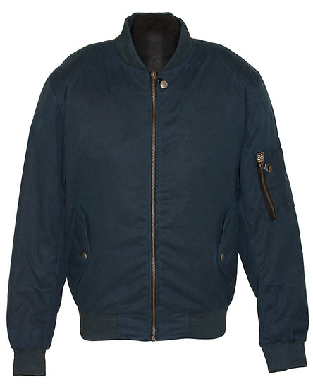 BOMBER WAXED COTTON JACKET