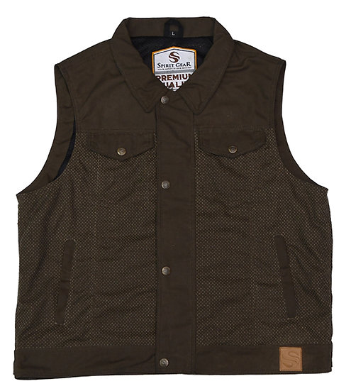 TRACK WAXED COTTON VEST