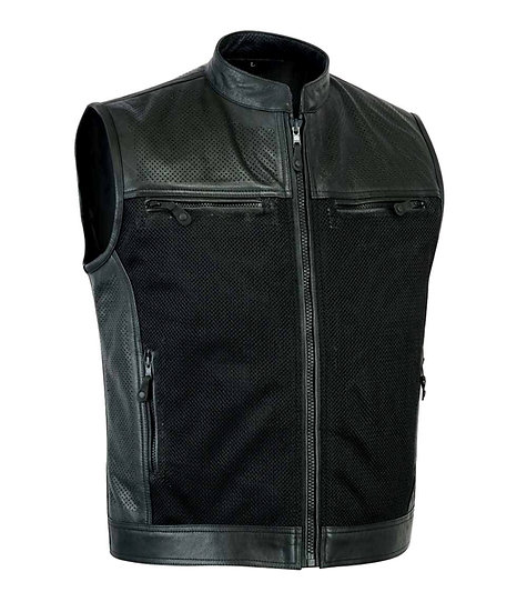 Bay perforated Leather Vest